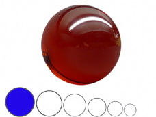 Jac Products Lava Red Translucent 100mm Acrylic Contact Ball